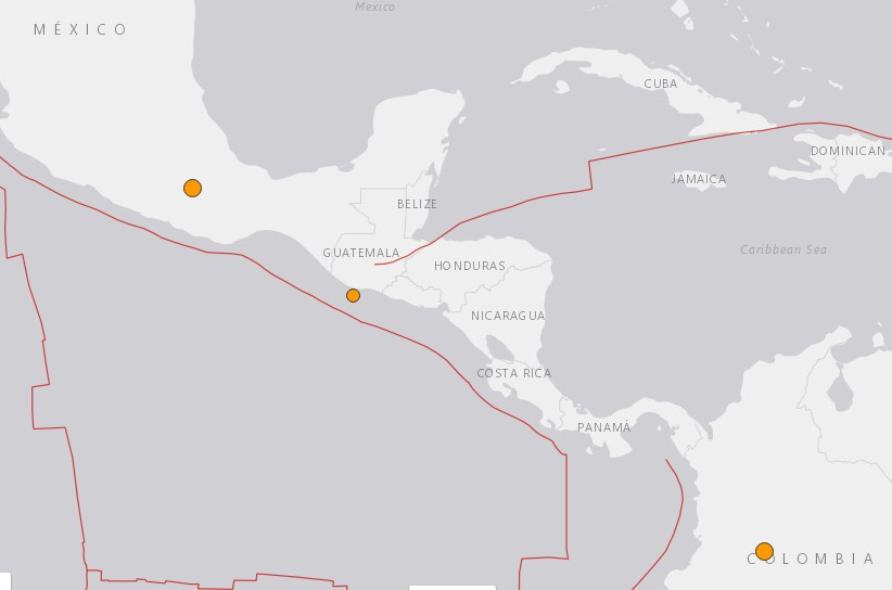 Terremotos atinges o México, Colômbia e Guatemala