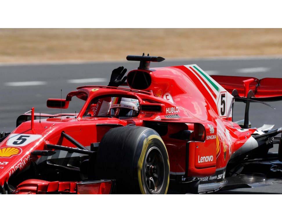Sebastian Vettel conseguiu a pole na Hungria