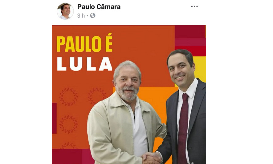 Lula e Paulo Câmara