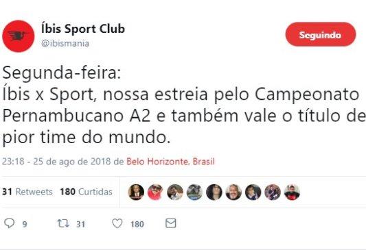 Twitter do Íbis
