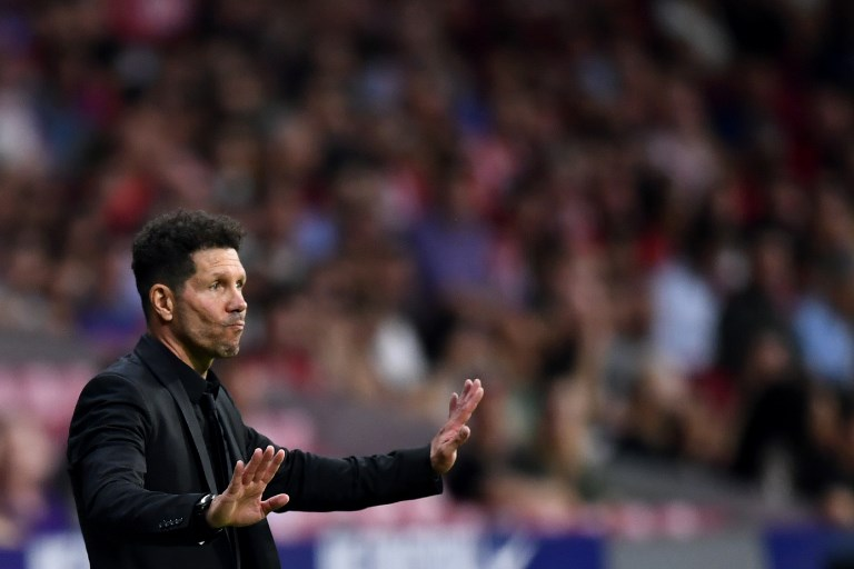 Simeone, técnico do Atlético de Madrid