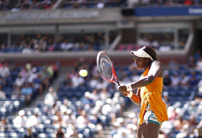 Stephens em ação no US Open