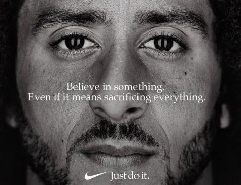 Imagem de Colin Kaepernick em campanha publicitária da Nike