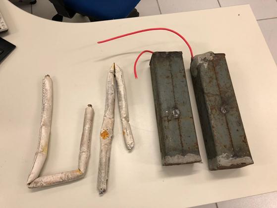Explosivos encontrados com Yury