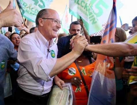 Geraldo Alckmin em campanha em Sorocaba(SP)  este fim de semana
