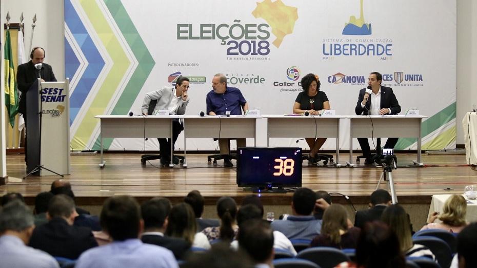 Debate com os candidatos ao Governo de Pernambuco, em Caruaru