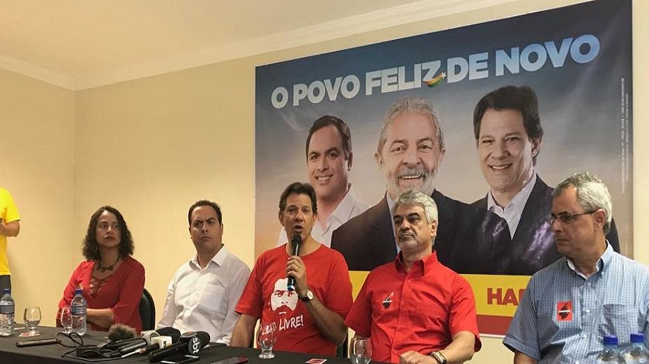 Haddad ainda não confirmou sua candidatura à presidência