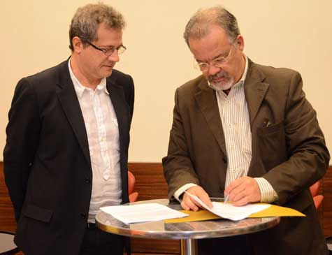 Francisco Saboya e Raul Jungmann