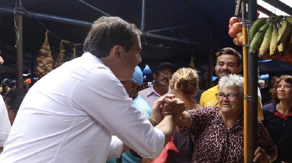 Governador estava acompanhado dos integrantes da chapa majoritária