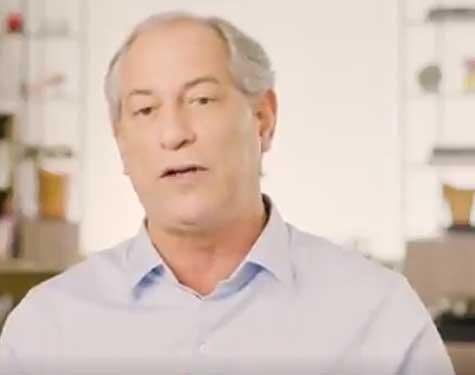 Ciro Gomes em vídeo da campanha