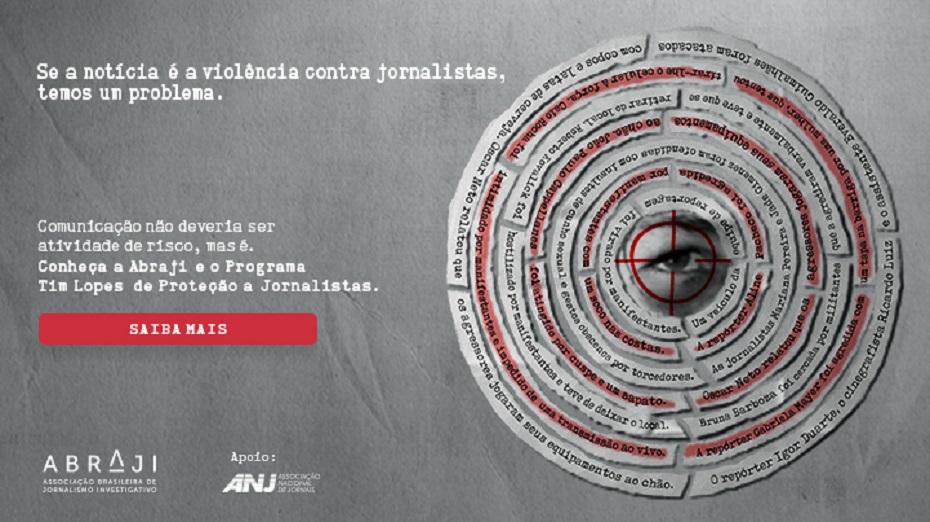 Campanha da Abraji contra agressões a jornalistas