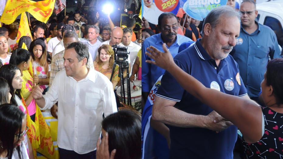 Paulo Câmara e Armando Monteiro, candidatos ao Governo de Pernambuco