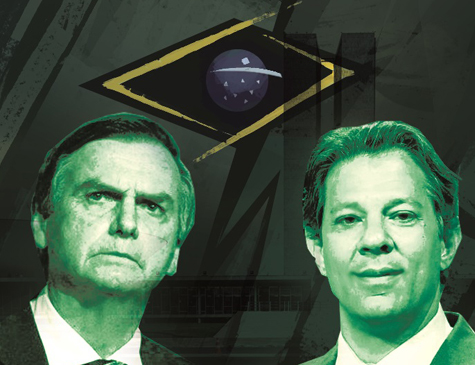 Candidatos à presidência Jair Bolsonaro e Fernando Haddad