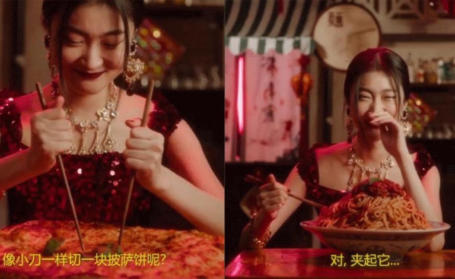 Marca divulgou campanha publicitária na qual uma garota chinesa tenta comer com hashis