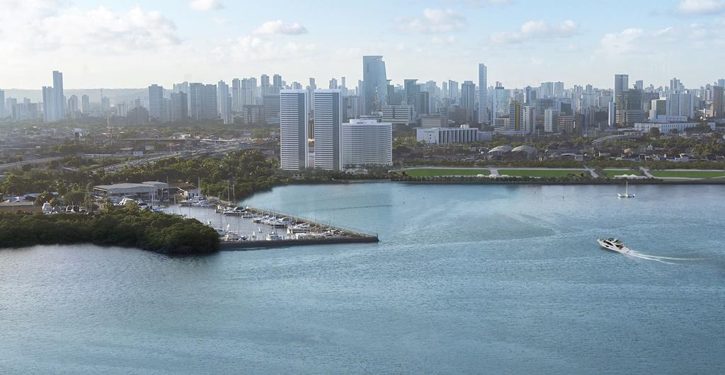Apartamentos do Complexo Mirante do Cais, composto por duas torres, possuem áreas de 230 m² a 260 m²