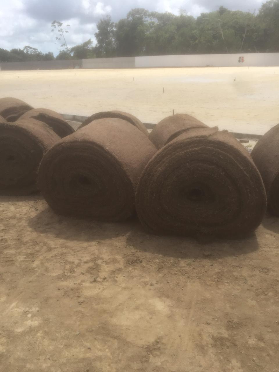 Grama para o primeiro campo do CT Ninho das Cobras, do Santa Cruz