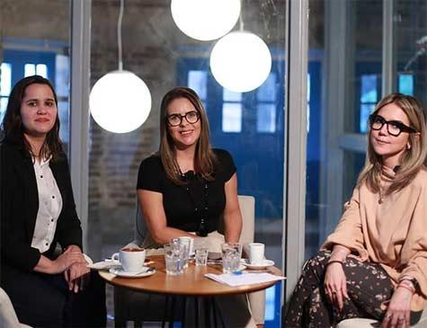 Carol Brito, Érika Siqueira e Renata Bezerra de Melo