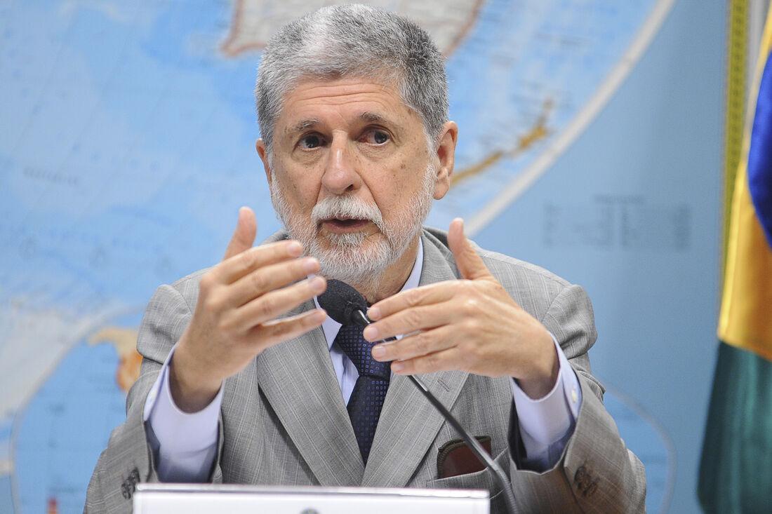 Ex-chanceler e ex-ministro das Relações Exteriores e da Defesa, Celso Amorim, participa do evento