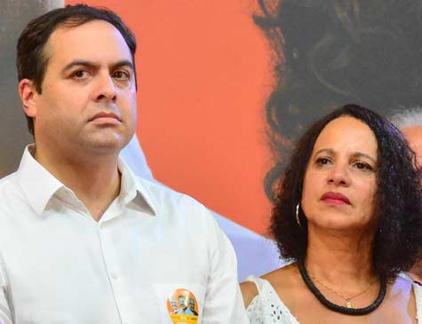 Paulo Câmara e Luciana Santos