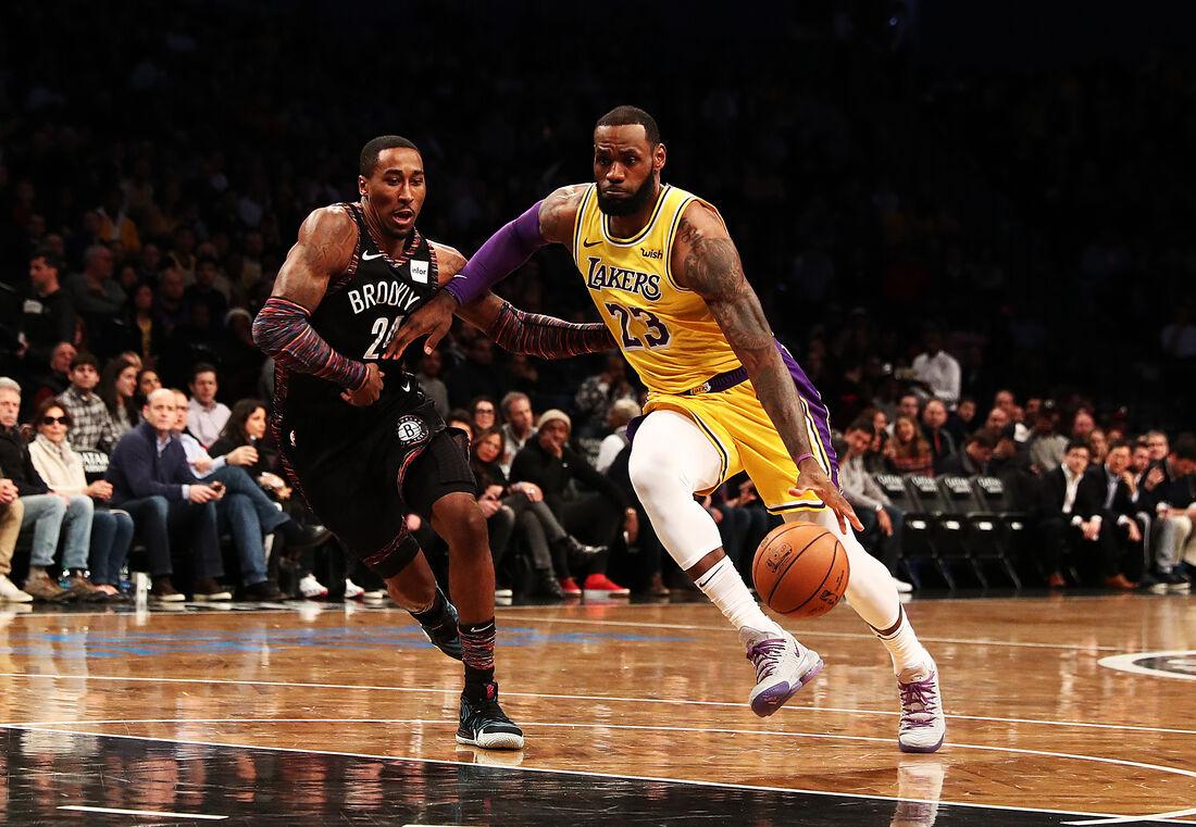 LeBron James, do Lakers, é um dos astros da NBA
