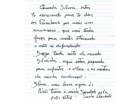 Carta de Lula para Dilma
