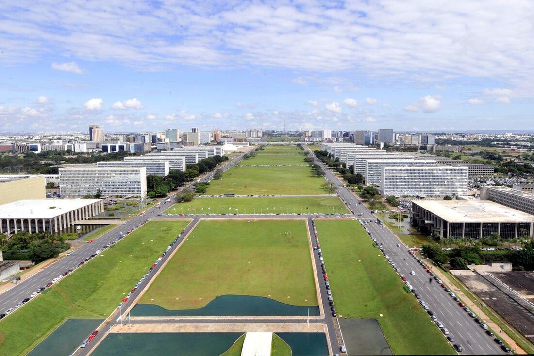 Esplanada dos Ministérios, em Brasília