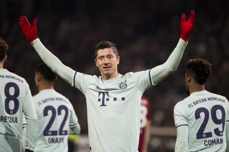 Lewandowski, goleador do Bayern de Munique