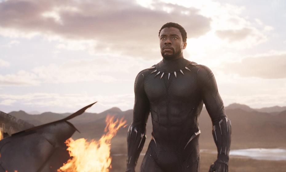 Cena do filme 'Pantera negra', com o protagonista Chadwick Boseman