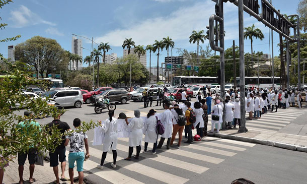 Protesto de profissionais de saúde