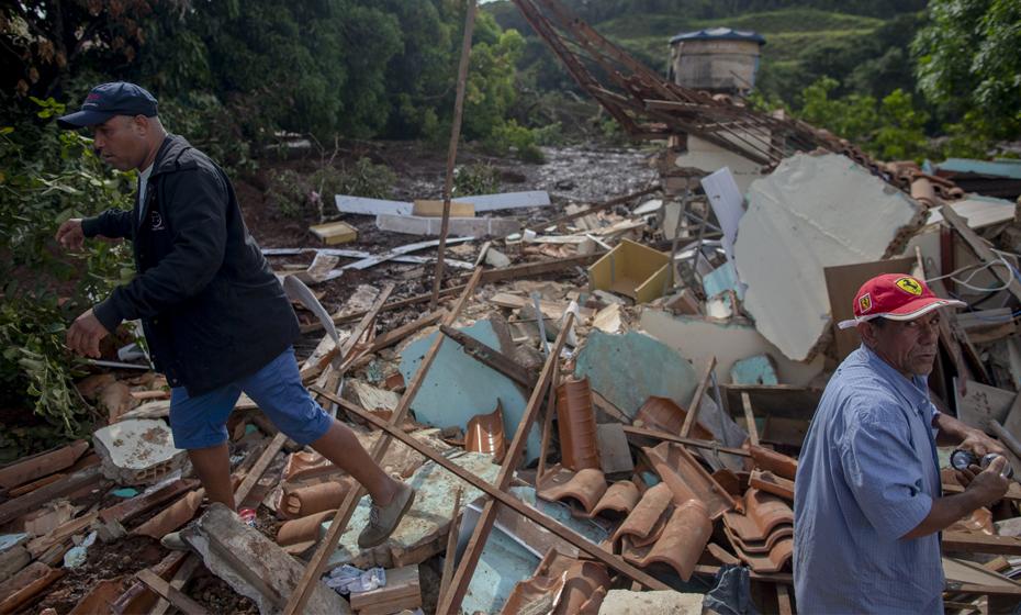 Barragem da mineradora Vale rompeu em Brumadinho (MG) nesta quinta-feira.