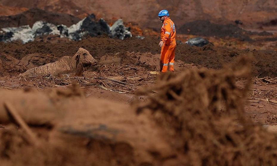 Devastação causada pelo rompimento de barragem da Vale, em Brumadinho (MG).