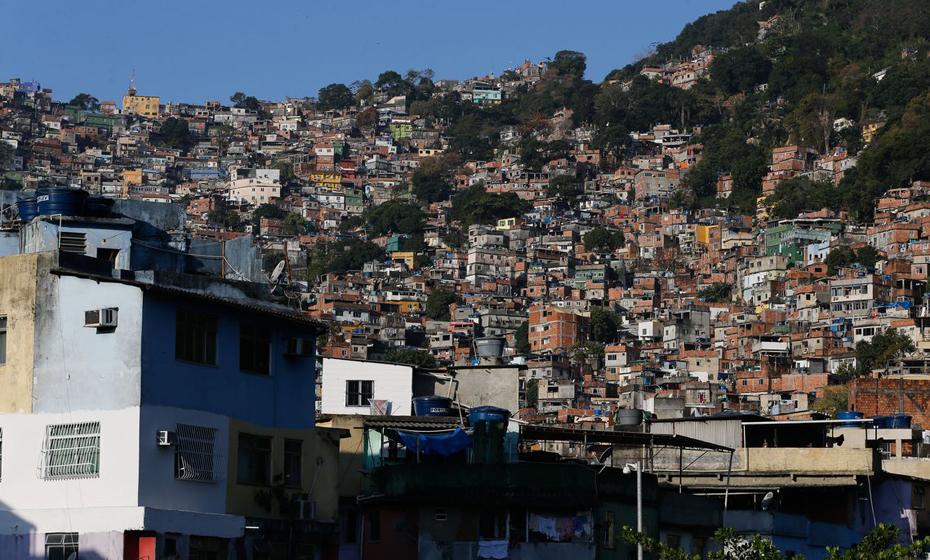 Favela da Rocinha, na zona sul do Rio de Janeiro