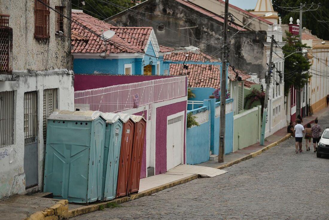Banheiros químicos em Olinda