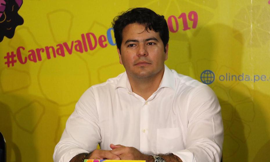 Márcio Botelho, vice-prefeito de Olinda, na Coletiva de Carnaval de Olinda 2019