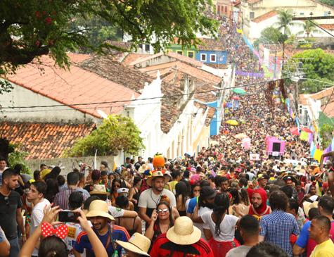 Ladeiras de Olinda no carnaval