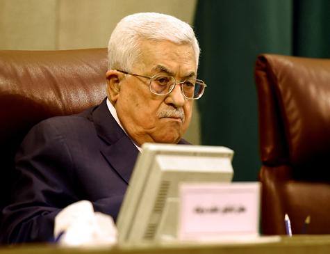 Presidente palestino Mahmud Abbas.