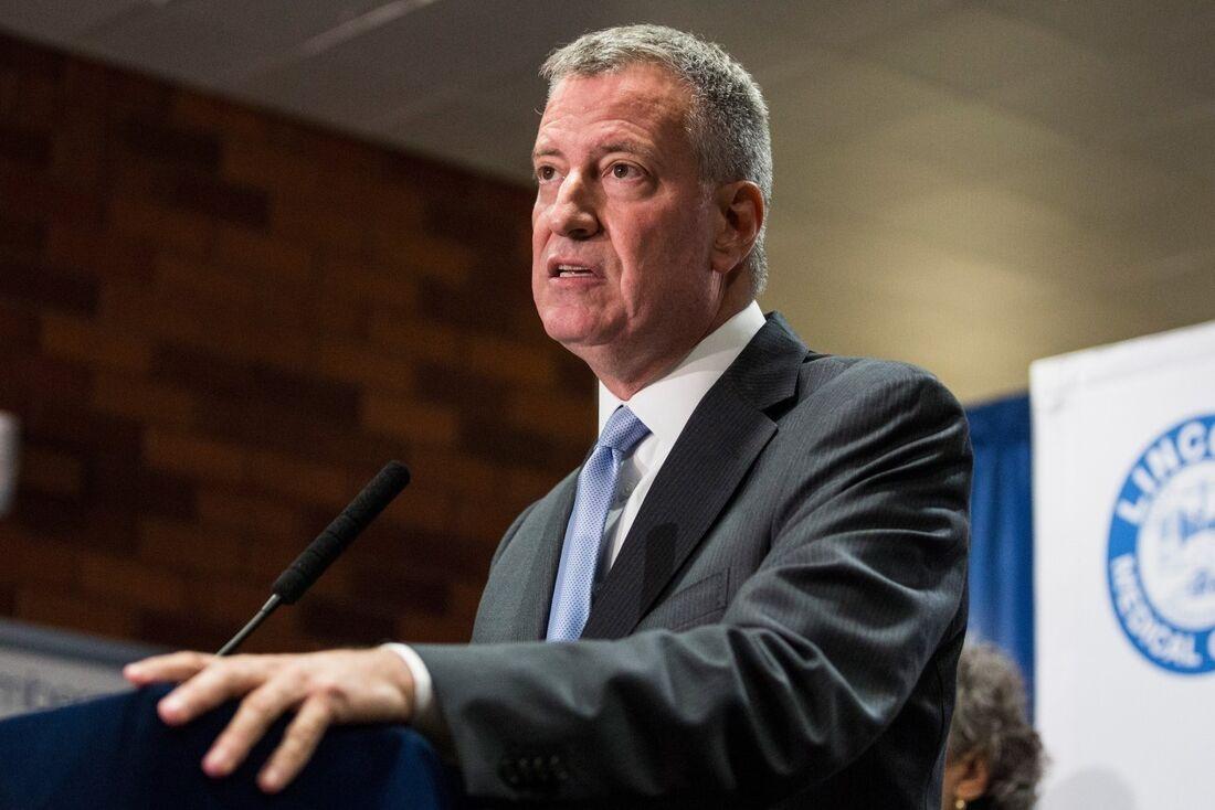 Bill de Blasio, prefeito de Nova York