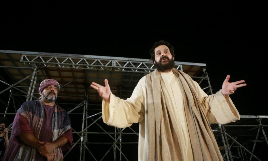 Primeiro ensaio da Paixão de Cristo do Recife com o global Bruno Garcia