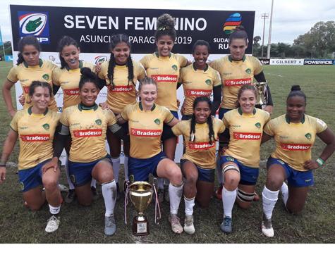 Seleção brasileira feminina é campeã do Sul-Americano de Rugby