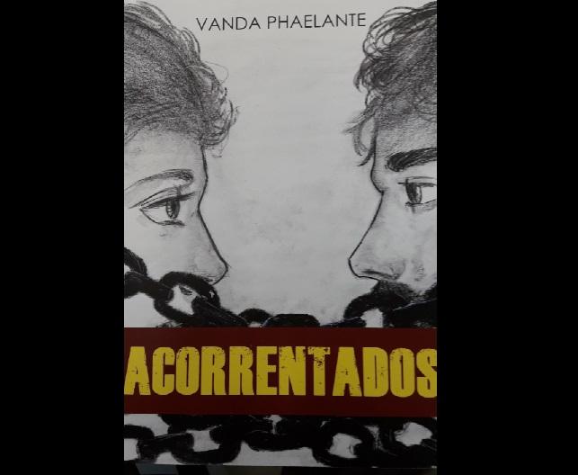 Detalhe da capa do livro 'Acorrentados'