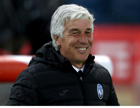 O técnico Gian Piero Gasperini vai comandar o Atalanta na primeira participação na Champions na história do clube