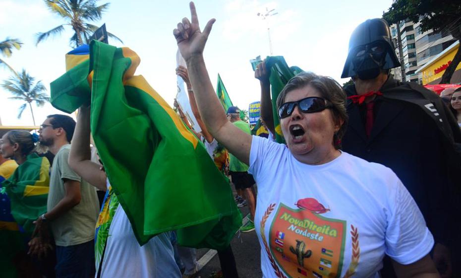 Manifestação a favor do governo Bolsonaro