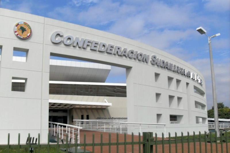 Sede da Conmebol em Assunção, no Paraguai