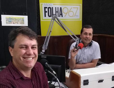 Edson Siqueira na Rádio Folha 96,7 FM