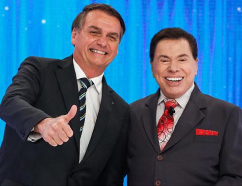 Bolsonaro e Silvio Santos