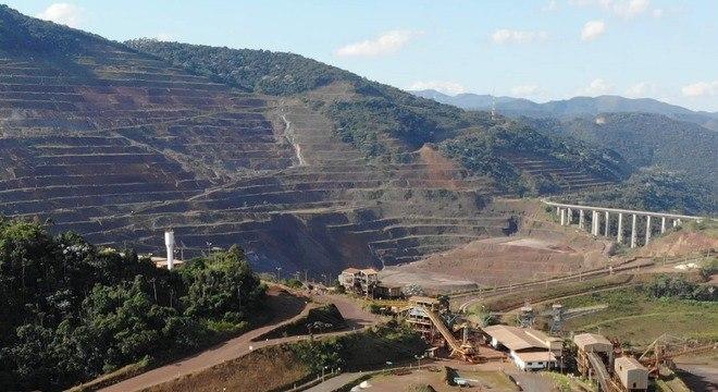 Talude do complexo da Mina de Gongo Soco, da Vale, no município de Barão de Cocais (MG)