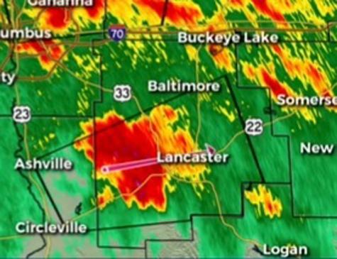 Tornado afetou área central de Ohio.