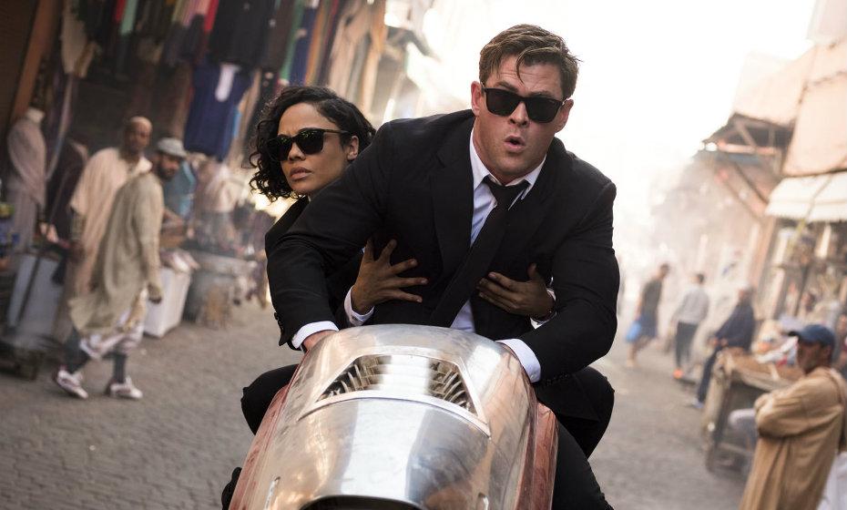 """Chris Hemsworth e Tessa Thompson apresentam dupla carismática em novo filme """"MIB"""""""
