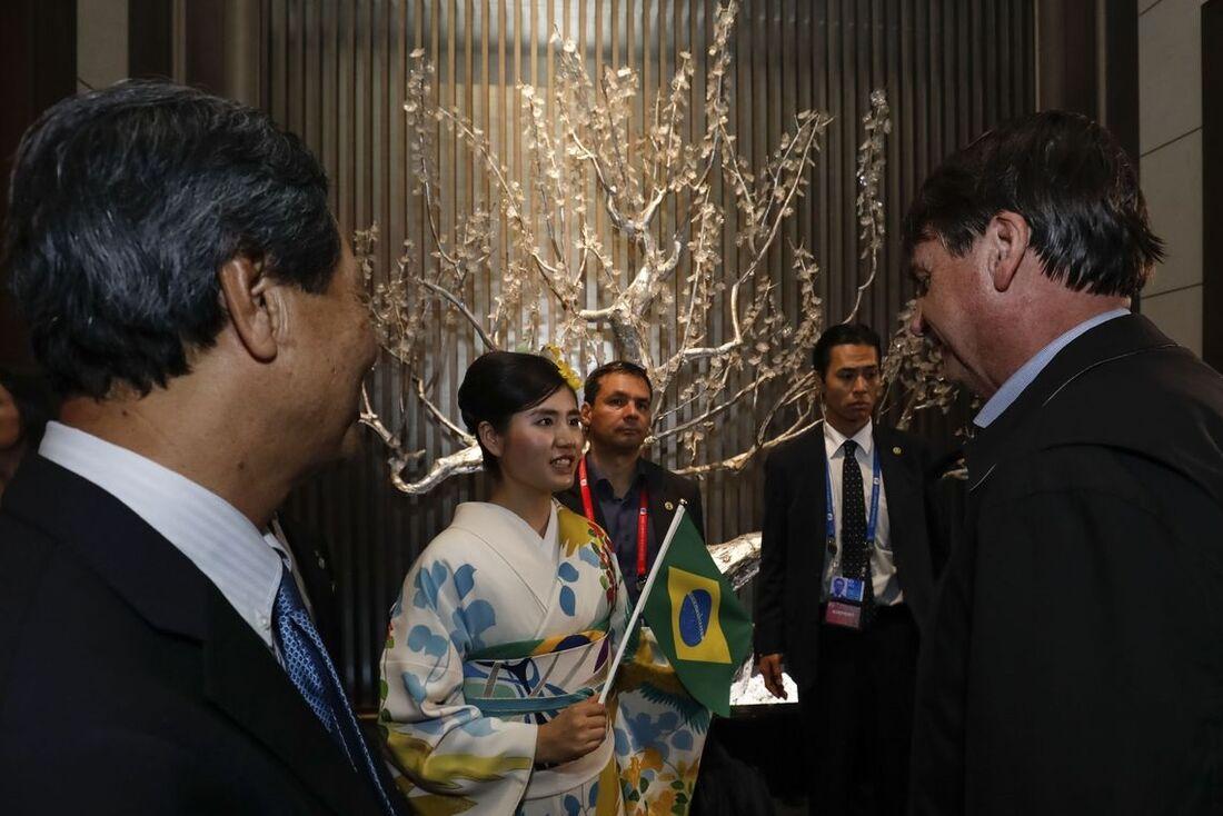 O presidente Jair Bolsonaro (PSL) está no Japão para encontro do G20