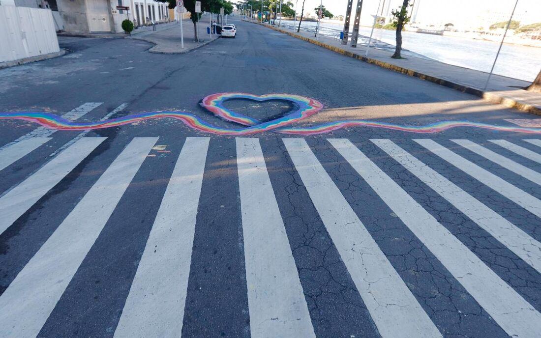 Intervenção artística contra homofobia no Recife